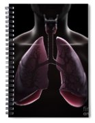 Lung Anatomy Spiral Notebook