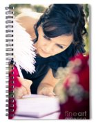 Maid Of Honour Signing Wedding Registar Spiral Notebook