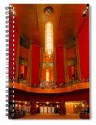 Main Lobby Radio City Music Hall Spiral Notebook