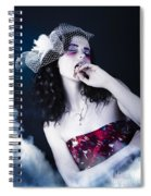 Makeup Beauty With Gothic Hair And Bloody Mouth Spiral Notebook