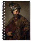 Man In Oriental Costume Spiral Notebook