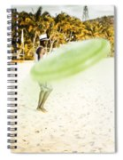 Man Playing Frisbee On Beach Spiral Notebook