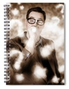 Man Problem Solving Question With Search Light Spiral Notebook
