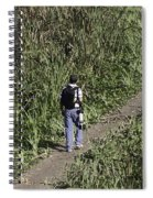 Man With A Canon Camera And Lens In Greenery Spiral Notebook