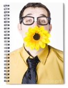 Man With Flower In Mouth Spiral Notebook
