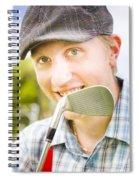 Man With Golf Club Spiral Notebook