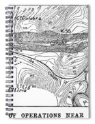 Map Panama Canal, 1885 Spiral Notebook