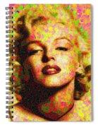Marilyn Monroe - Maple Leaves Spiral Notebook