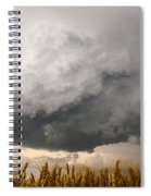 Marshmallow - Bubbling Storm Cloud Over Wheat In Kansas Spiral Notebook