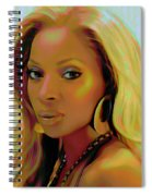 Mary J Blige Spiral Notebook