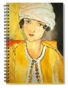 Matisse's Lorette With Turban And Yellow Jacket Spiral Notebook