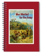 Men Wanted For The Army Spiral Notebook