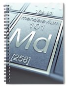 Mendelevium Chemical Element Spiral Notebook