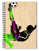 Womans Soccer Spiral Notebook