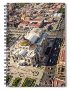 Mexico City Aerial View Spiral Notebook