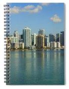 Miami Brickell Skyline Spiral Notebook
