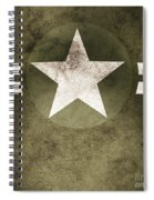 Military Army Star Background Spiral Notebook