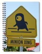Minion Crossing Spiral Notebook