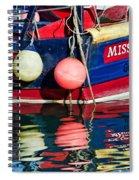 Miss Pattie At Lyme Regis Harbour  Spiral Notebook