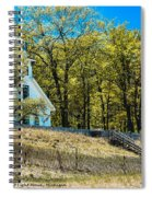 Mission Point Light House Michigan Spiral Notebook