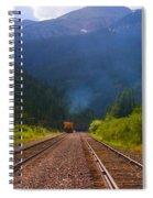 Misty Mountain Train Spiral Notebook