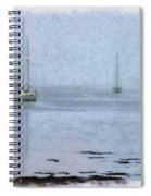 Misty Sails Upon The Water Spiral Notebook