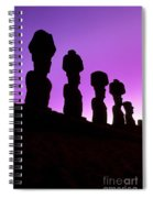 Moais Easter Island Chile Spiral Notebook