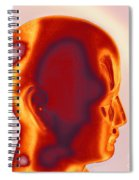 Model Of A Human Head In Profile Spiral Notebook