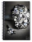 Modern Button Design Wedding Bouquet Spiral Notebook