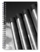 Modern Restaurant Chimneys. Spiral Notebook