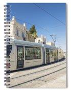 Modern Tram In Central Jerusalem Israel Spiral Notebook