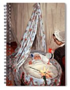 Monet's The Cradle -- Camille With Artist's Son Jean Spiral Notebook