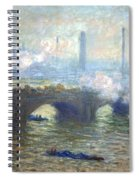 Monet's Waterloo Bridge On A Gray Day Spiral Notebook