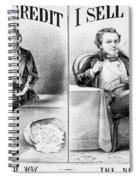 Money Lending, 1870 Spiral Notebook
