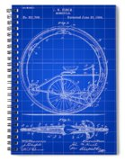 Monocycle Patent 1894 - Blue Spiral Notebook