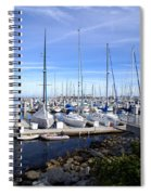 Monterey Harbor California Spiral Notebook