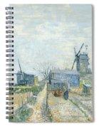 Montmartre Mills And Vegetable Gardens Spiral Notebook