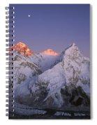 Moon Over Mount Everest Summit Spiral Notebook