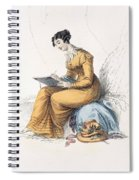 Morning Dress, Fashion Plate Spiral Notebook