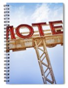 Motel Sign Spiral Notebook