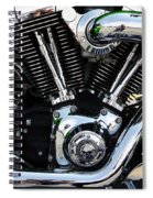 Motorcycle Engine Spiral Notebook
