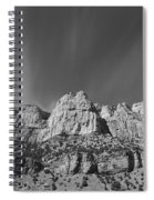 Mountain Peaks And Shimmering Sky Spiral Notebook