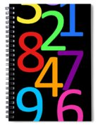 Multi-color Numbers Spiral Notebook