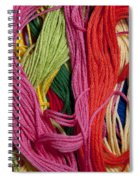 Multicolored Embroidery Thread Mixed Up  Spiral Notebook