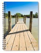 Murray River Jetty Spiral Notebook