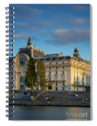 Musee D'orsay Evening Spiral Notebook