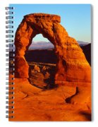 Natural Arch In A Desert, Delicate Spiral Notebook