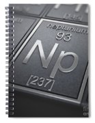 Neptunium Chemical Element Spiral Notebook
