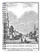 New Jersey Newark, 1844 Spiral Notebook