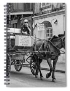 New Orleans - Carriage Ride Bw Spiral Notebook